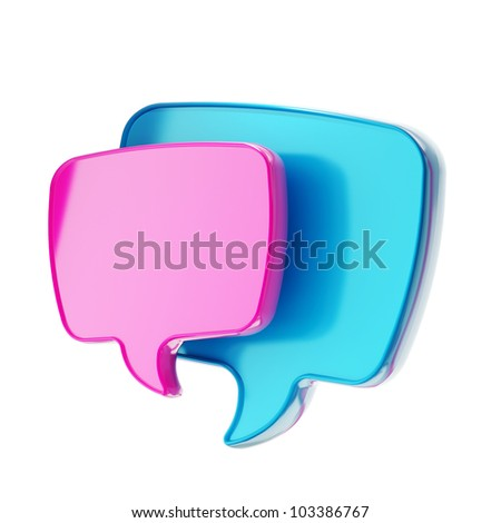 Communication emblem text speech bubble icon isolated on white