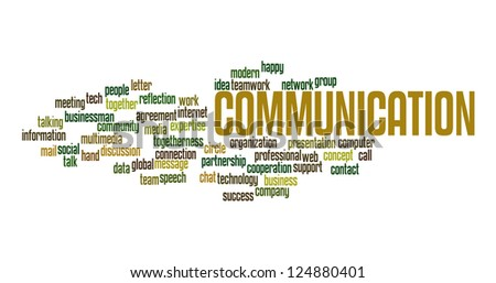 Communication in word collage
