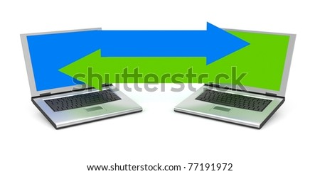 Communication metaphor. Image contain clipping path