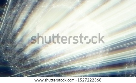 Communication network concept. Cyberspace. Abstract background.