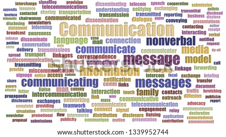 Communication Tag Cloud Neatly Isolated
