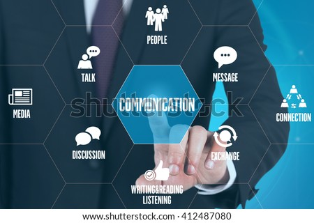 COMMUNICATION TECHNOLOGY COMMUNICATION TOUCHSCREEN FUTURISTIC CONCEPT
