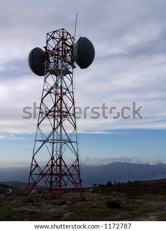 communication tower, antenna