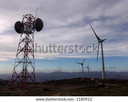 communication tower, antenna, eolic