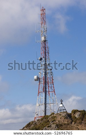 Communication tower atop Mt. Elizabeth in Wellington, New Zealand