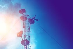 communication tower, high power wifi antenna post hotspot long range digital data transport