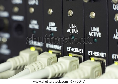 communications system closeup with shallow depth of field