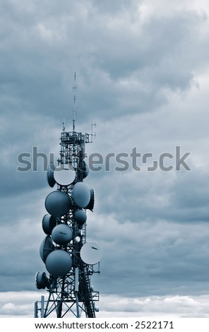 Communications Tower Blue Tone