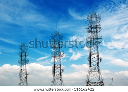 Communications Tower in the sky background