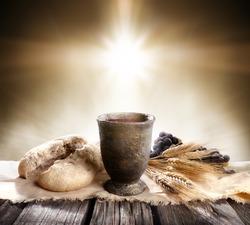 Communion - Unleavened Bread Chalice Of Wine