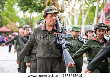 Communist Party of Thailand Organized activities to commemorate those who died in battle In the event, there were flowers and parades.  April 20, 2019, Ban Na San District, Surat Thani Province #1378955915