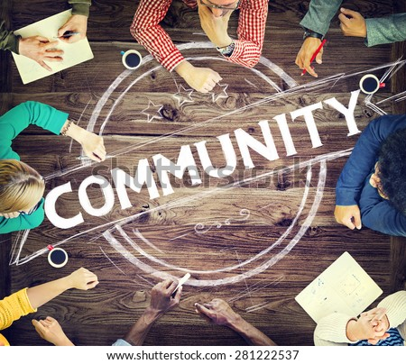 Community Citizen Diversity Connection Communication Concept #281222537