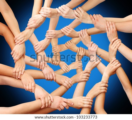Community hands teamwork