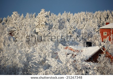 community in northern Sweden. Winter is very cold.