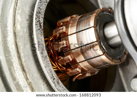 Commutator, a part of the electric motor used to drive the car wipers