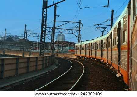 Commuter train, one of the mass transportation which is the mainstay of urbanites in Jakarta.
