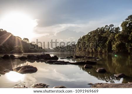 Comoé River in Comoé National Park, Ivory Coast #1091969669