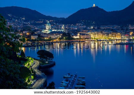 Como - The city with the Cathedral and lake Como. Foto stock ©