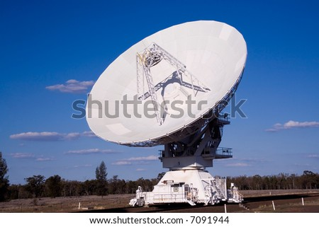 compact array radio telescope showing the full dish