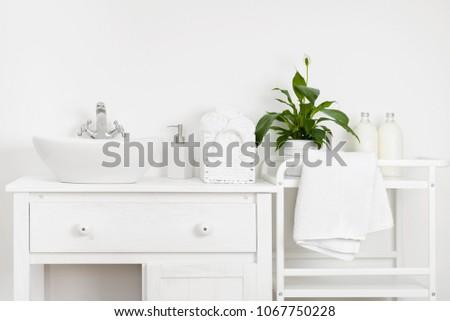 compact bathroom interior with...