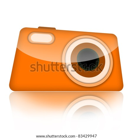 Compact digital camera illustration isolated over white background