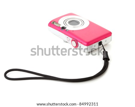 Compact digital camera. Isolated on white background