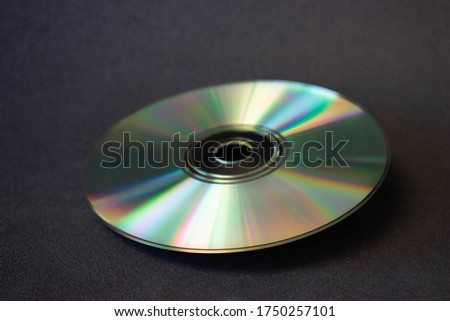 Compact disc isolated on a black background Сток-фото ©