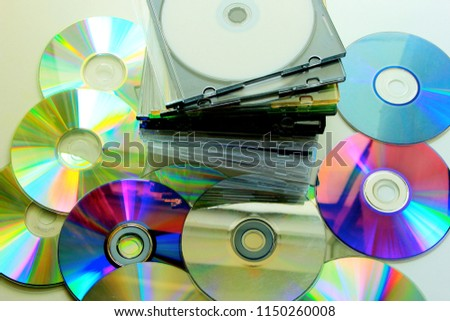 Compact Disc with a plastic cover #1150260008