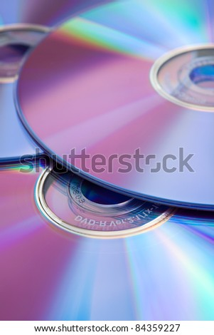 Compact discs (color toned image)