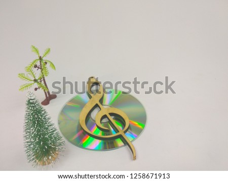 compact discs on a white background.HD. #1258671913