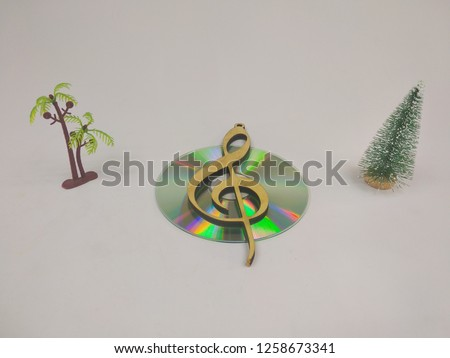 compact discs on a white background.HD. #1258673341
