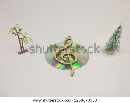 compact discs on a white background.HD. #1258673350