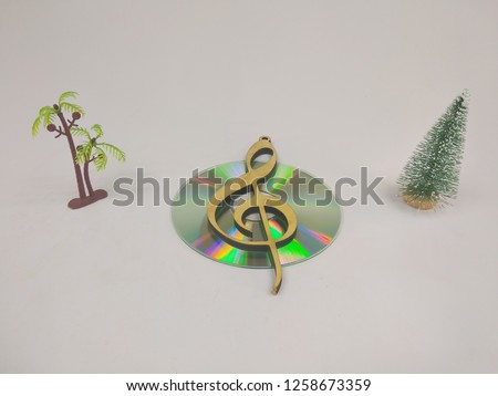 compact discs on a white background.HD. #1258673359