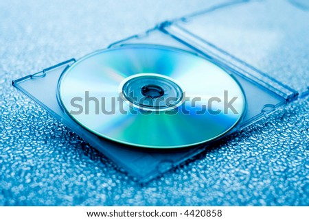 compact disk in case