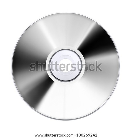 compact disk, isolated on white
