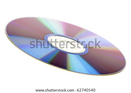 Compact dsc isolated on white background