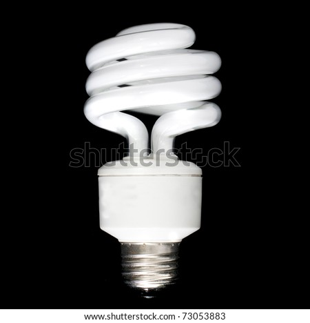 Compact Florescent bulb isolated on black background