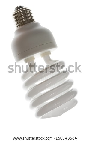 Compact Fluorescent Lightbulb clsoe up - stock photo