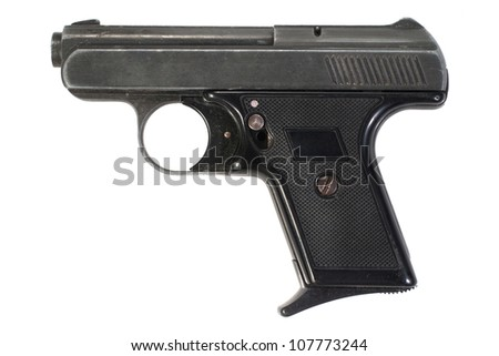 compact hand gun - stock photo
