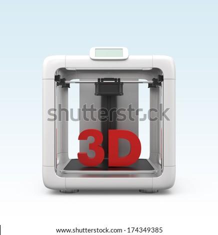 Compact personal 3D printer. Original design.
