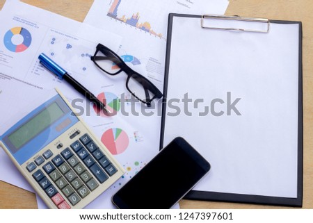 Company analyzes the company's annual financial statements, balances work with graphical documents. Economic picture, project, market, finance and tax office #1247397601