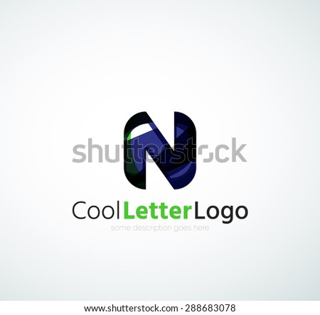 Company logo. Illustration. Made of overlapping wave elements, abstract composition. Font business icon concept