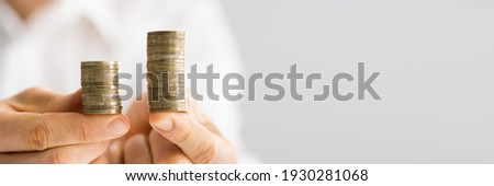 Compare Wage And Money Gap. Equal Pay Stock photo ©