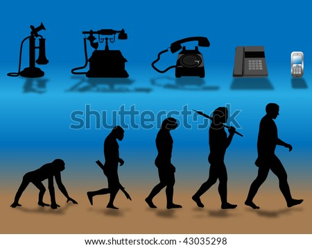comparing human and phone evolution