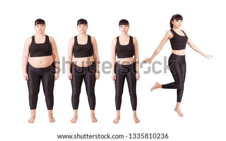 Comparison before and after weight loss. The evolution of women. Stages of losing weight. Cellulite Indications for liposuction. The concept of a healthy lifestyle. Proper nutrition. Diet and fitness.