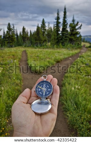 compass and trail junction