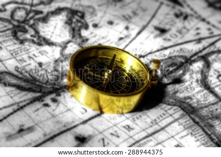 Compass antique map