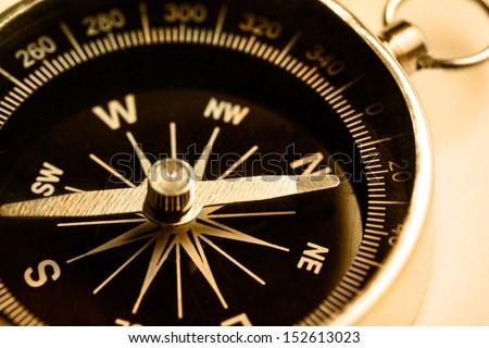 Compass closeup in toning