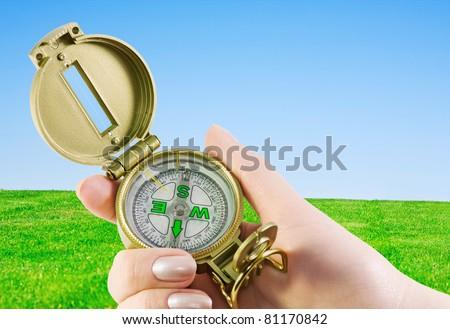 compass in hand, orienteering