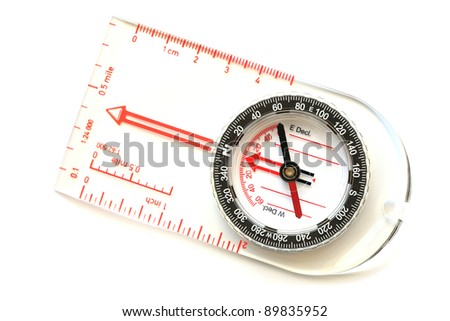 compass isolated. - stock photo